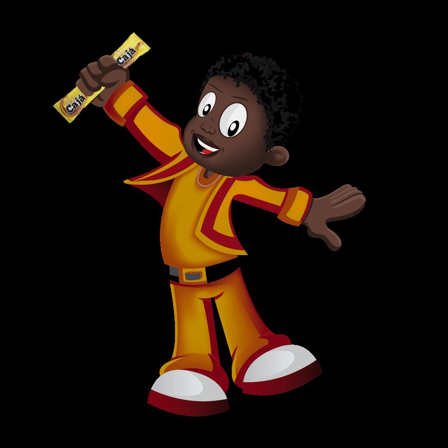 Logo mascote Candengue Angola design