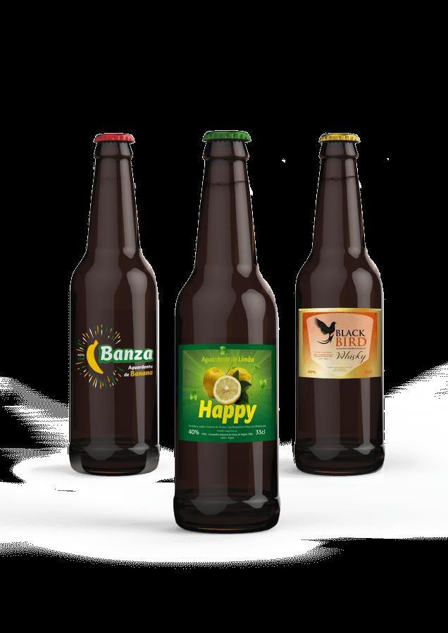 Bebidas Garrafas Rótulo design